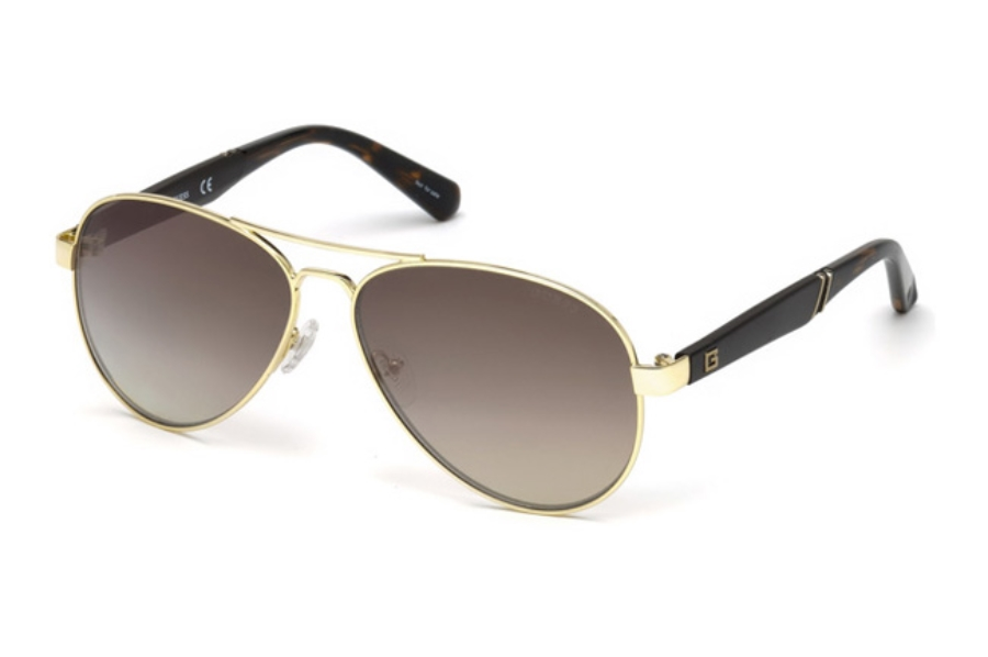 Guess GU 6930 Sunglasses in 32G - Gold / Brown Mirror